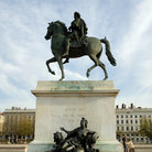 Picture - King Louis statue at Bellecour Place in Lyon.