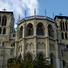 Picture - The front of St Jean Cathedral in Lyon.
