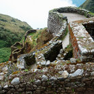 Picture - Inca ruins along the Inca Trail.