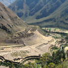Picture - The Llaqtapata ruins on the Inca trail.