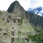 Picture - Overview of western structures at Machu Picchu.