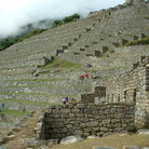 Picture - From observatory to Sacred Square, quarry & guard post, Machu Picchu.