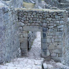 Picture - Gate with rings to tie door in place in main city of Machu Picchu.