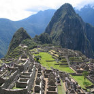 Picture - Central plaza of Machu Picchu.