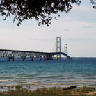 Picture - Mackinac Bridge at Mackinaw City.