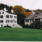 Picture - Homes on Mackinac Island.