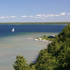 Picture - View over the shoreline of Mackinac Island.