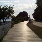 Picture - Boardwalk on Mackinac Island.