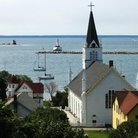 Picture - Harbor at Mackinac Island.
