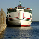 Picture - A ferry boat on Mackinac Island.