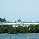 Picture - Grand Hotel on Mackinac Island, seen from the lake.
