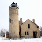 Picture - Old Mackinac Point Lighthouse in Mackinaw City.