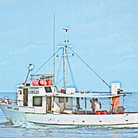 Picture - Fishing boat off Madiera Beach.
