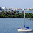 Picture - Sailboat in the lagoon at Madeira Beach.