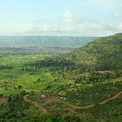 Picture - Landscape of the Sahyadri mountain range of Maharashtra.
