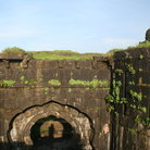 Picture - Historical fort wall in the Sahyadri mountain range of Maharashtra.