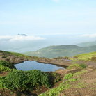 Picture - Pond in the Sahyadri mountains.