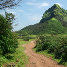 Picture - Dirt road throuhg the Sahyadri Mountains.