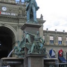 Picture - The statue of Alfred Escher, a railroad entrepreneur outside Zurich train station.