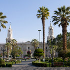 Picture - View across the Plaza de Armas in Arequipa.