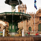 Picture - Fountain in the main square in Cusco.