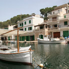 Picture - Boats and waterfront buildings at Cala Figuera.