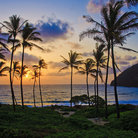 Picture - Beautiful sunset over Makapu'u Beach.