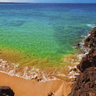 Picture - Beautiful, clear water at Makena Beach.