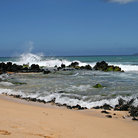 Picture - Lava rock on Makena Beach, Maui.