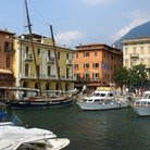 Picture - The harbor at Malcesine.