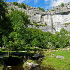 Picture - Cliffs and stream at Malham National Park.
