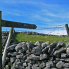Picture - Stone fence at Malham National Park.
