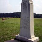 Picture - A monument at Manassas National Battlefield.