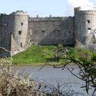 Picture - The ruins of Carew Castle.