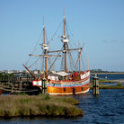 Picture - An old shipped docked in Manteo.