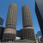 Picture - Marina City towers were built in 1959, Chicago.