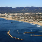 Picture - Aerial view of Marina del Rey harbor entrance.