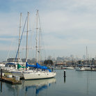 Picture - Boats docked in the Marina District of San Francisco.