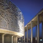 Picture - Exterior of the Mark Taper Forum in Los Angeles.