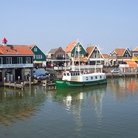 Picture - View of the harbor in Volendam.