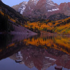 Picture - Dawn in autumn at Maroon Bells.