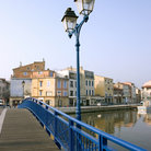 Picture - Bridge across the Etang de Berre in Martigues.
