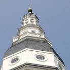 Picture - Maryland State House (1772) where the U.S. Congress met in 1884 in Annapolis.