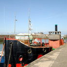 Picture - An old steam boat in Maryport harbor.