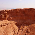 Picture - Red rock formations near Masada.