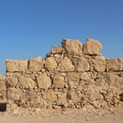 Picture - Stone wall in Masada.