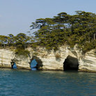 Picture - Rock formation at Matsushima Bay.