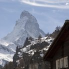 Picture - The Matterhorn (Cervin), seen from Zermatt.