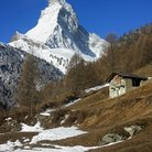 Picture - The Matterhorn in spring.