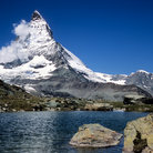 Picture - The Matterhorn and the Riffelsee near Zermatt.